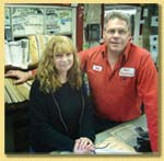 Nancy and Paul Berry, owners, Paul's Auto Machine and Repair, Southbridge, MA